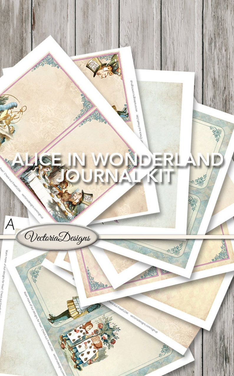 Alice in Wonderland Journal Kit Printable