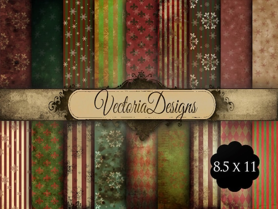 Shabby Chic Christmas Papers