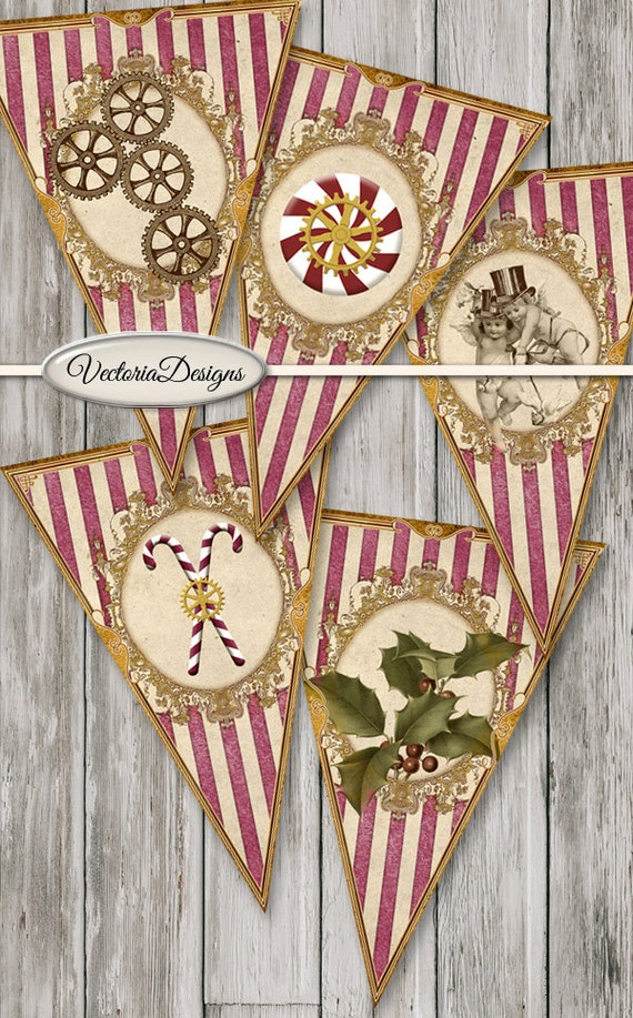 Steampunk Christmas Banner