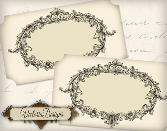 Blank Printable Tags: Blank Vintage Labels Printable Add Text Paper Crafting