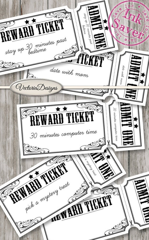 photograph about Printable Reward Tickets known as Profit Tickets for Children Printable youngsters positive aspects do it yourself Excellent conduct atude parenting electronic collage sheet instantaneous down load - VDTIVI1475