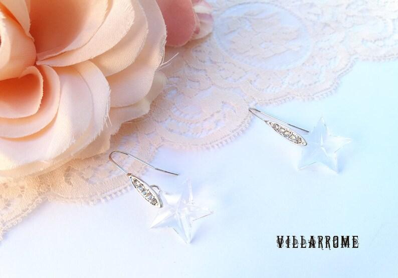 06d0a74d5820 Pendientes estrella cristal pendientes largos joyas bodas
