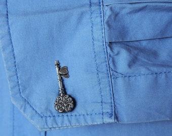 Key Cufflinks Silver Tone Keys Wedding Cuff Links Grooms Groomsmens gifts Key wedding gift