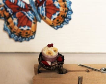 Tea Time Ring Frozen Yogurt Ring with true Italian lace Alice in Wonderland Style