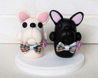 French Bulldog Gay or Lesbian Cake Topper Wedding Cake Topper French Bulldogs Gay Cake Topper Lesbian Cake