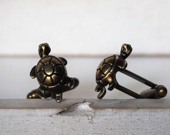 Turtle Cufflinks Bronze Color Turtles Mens Accessories Tortoise Groomsmens gifts Grooms
