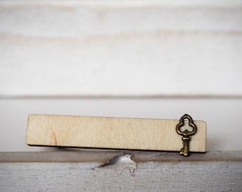 Key Tie Clip Key Tie Bar Wedding Favors Groomsmens gifts Key Tie pin Wedding gift Grooms