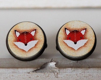 Red Fox Cufflinks Foxes Cuff Links Fox Cufflinks Fox Lover Wildlife Cufflinks Red Fox Ring Fox Ring