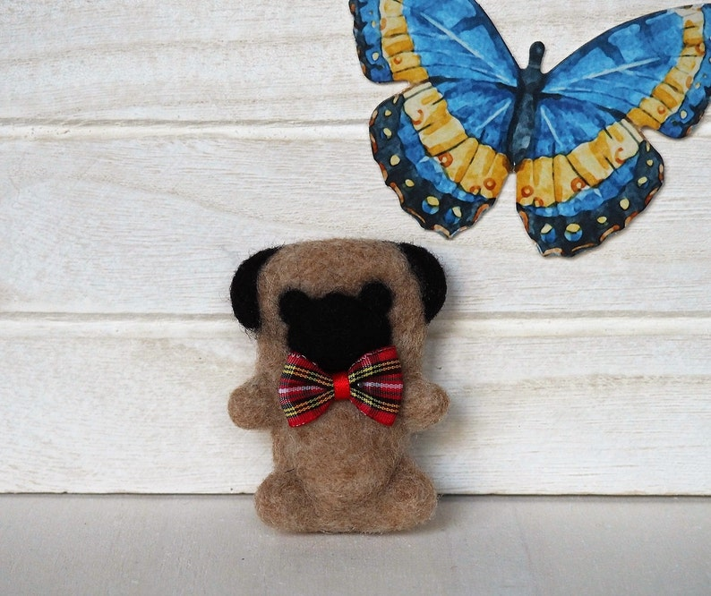 Pug Plush SPECIAL DISCOUNT Puppy Soft Sculpture Needle Felted image 0