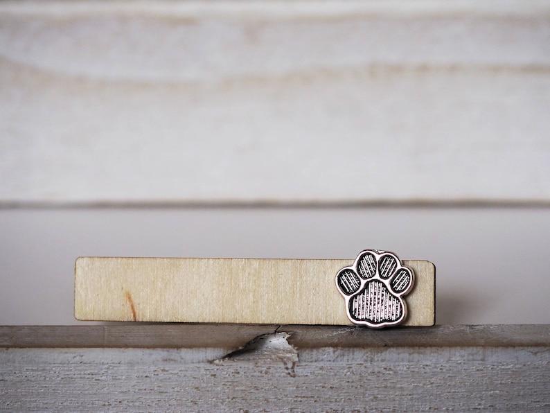 Cat Dog Tie Clip Paw Print Tie Bar Grooms Tie Clip Pets Lovers image 0