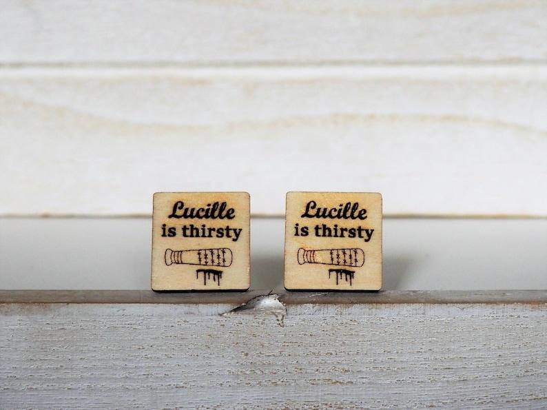 Lucille Cufflinks Lucille is Thirsty Cufflinks Walking Dead image 0