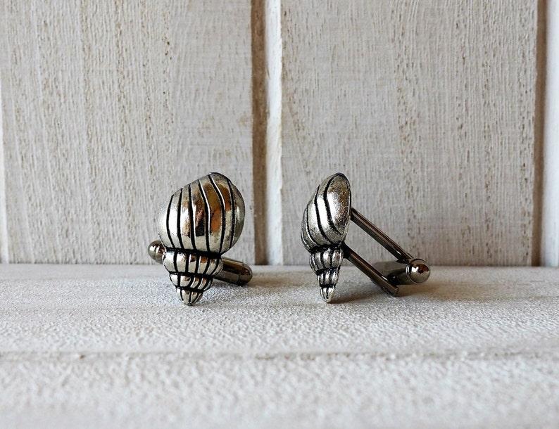 Shell Cufflinks Seashell Wedding Cufflinks Mens Accessories image 0