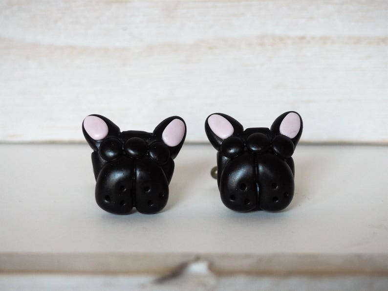 French Bulldog Cufflinks SPECIAL DISCOUNT Black French Bulldog image 0