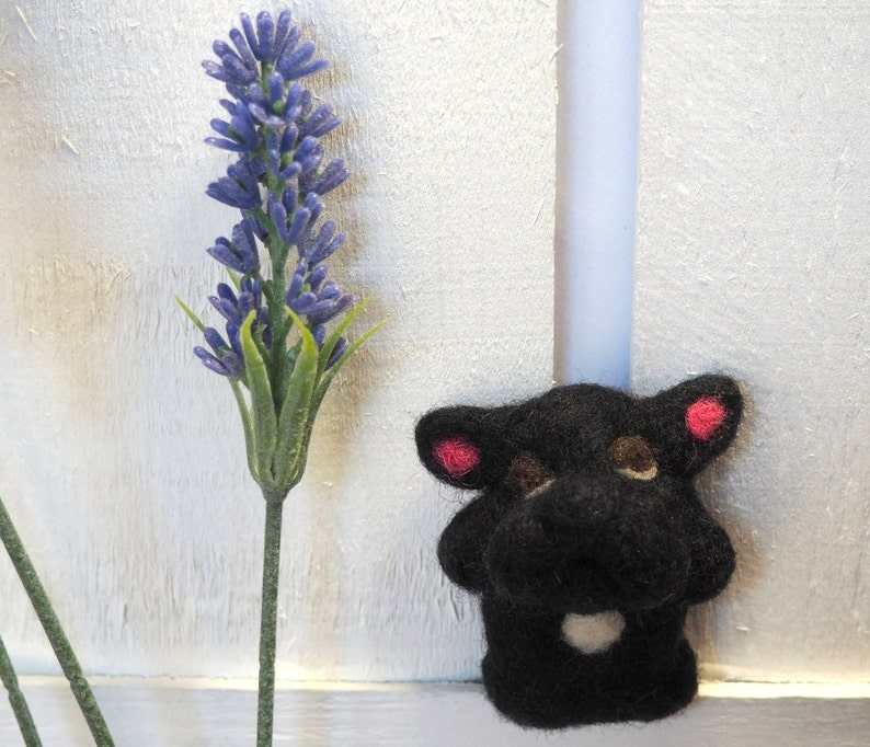 Black French Bulldog  SPECIAL DISCOUNT Needle Felted Frenchie image 0