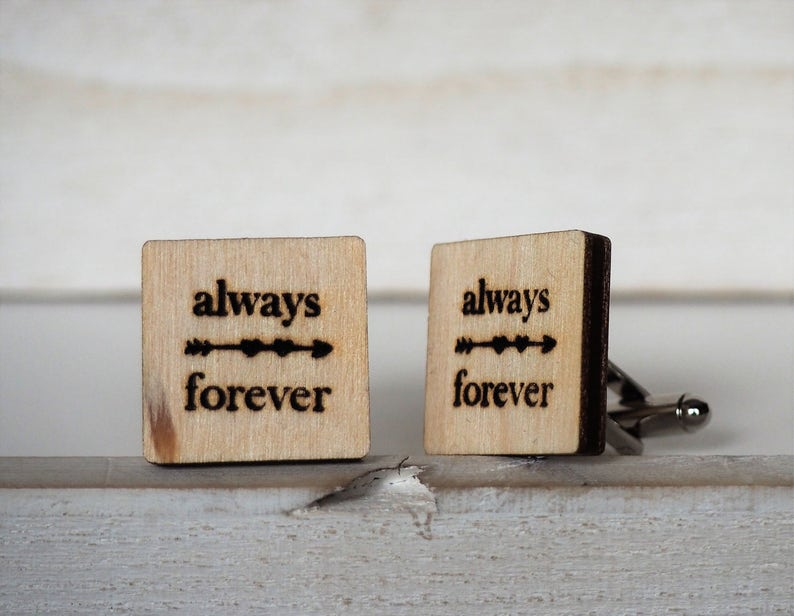 Always and Forever Wedding Cufflinks Always Forever Cuff Links image 0