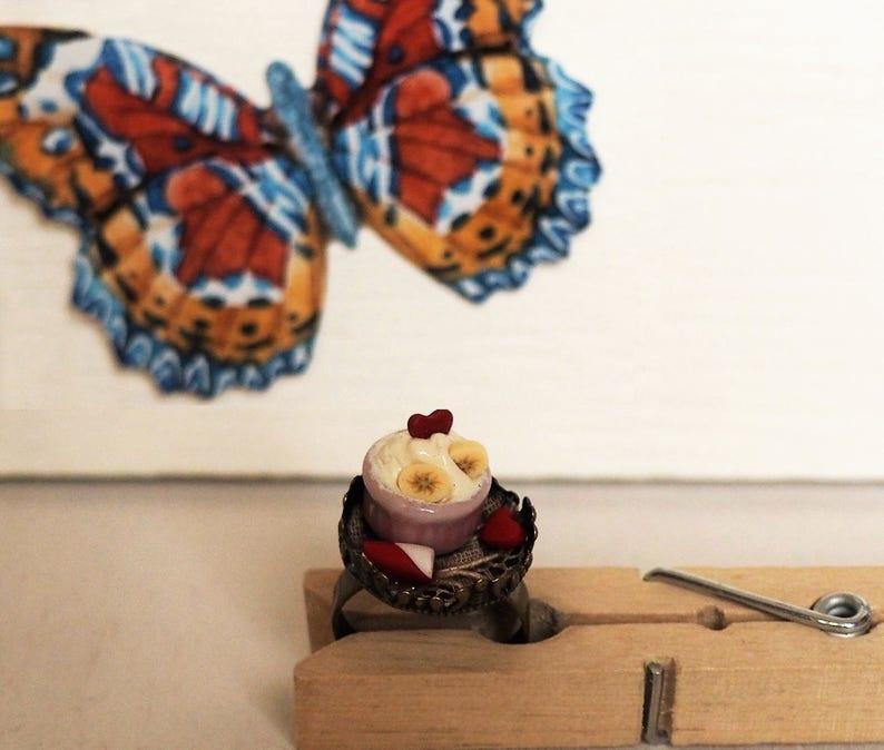 Tea Time Ring Frozen Yogurt Ring with true Italian lace Alice image 0