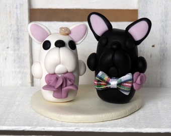 French Bulldog Cake Topper French Bulldogs Wedding Cake Topper Dog Decorations