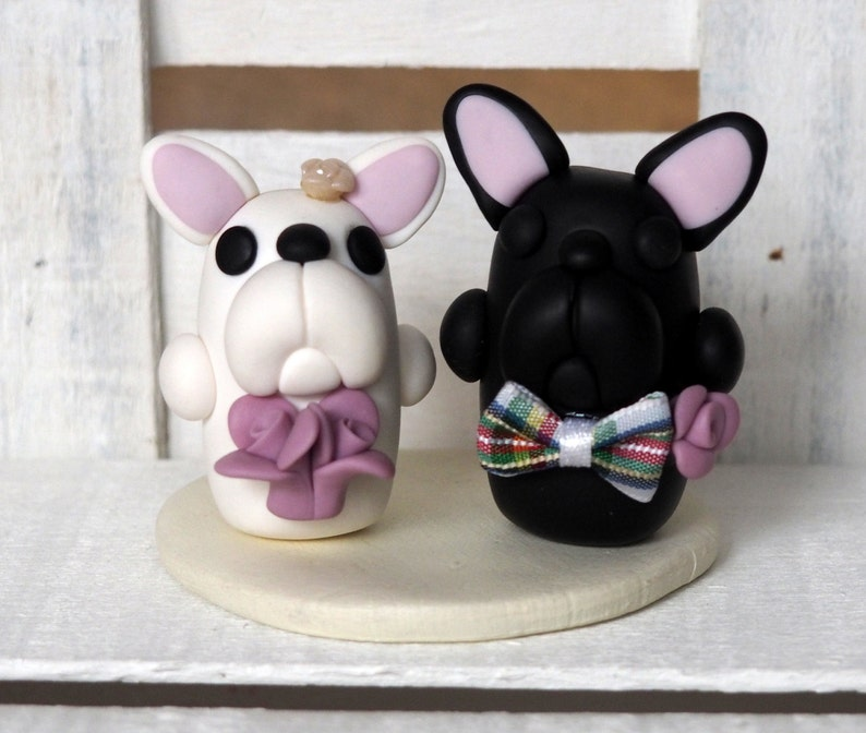 French Bulldog Cake Topper French Bulldogs Wedding Cake Topper image 0
