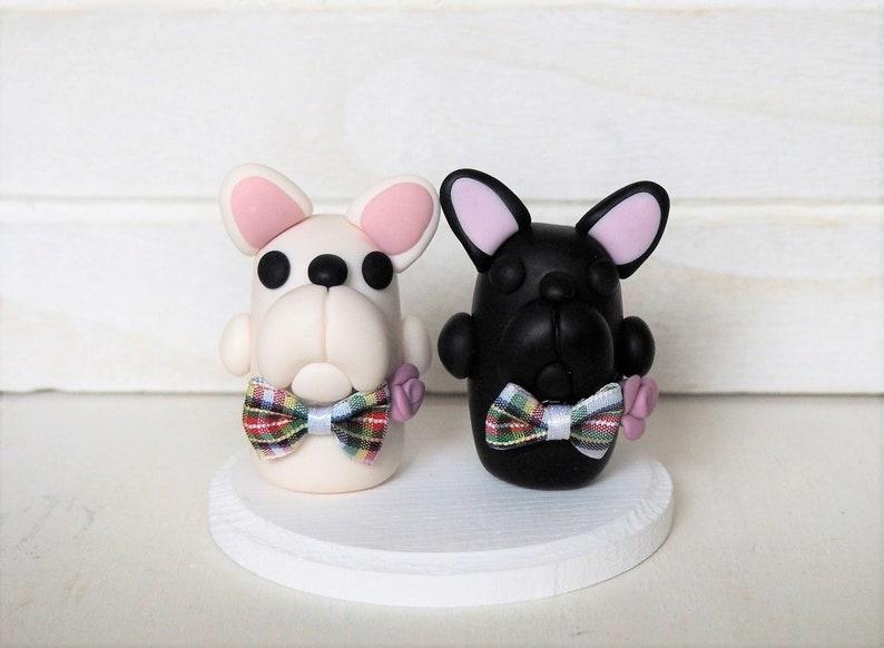 French Bulldog Gay or Lesbian Cake Topper Wedding Cake Topper image 0
