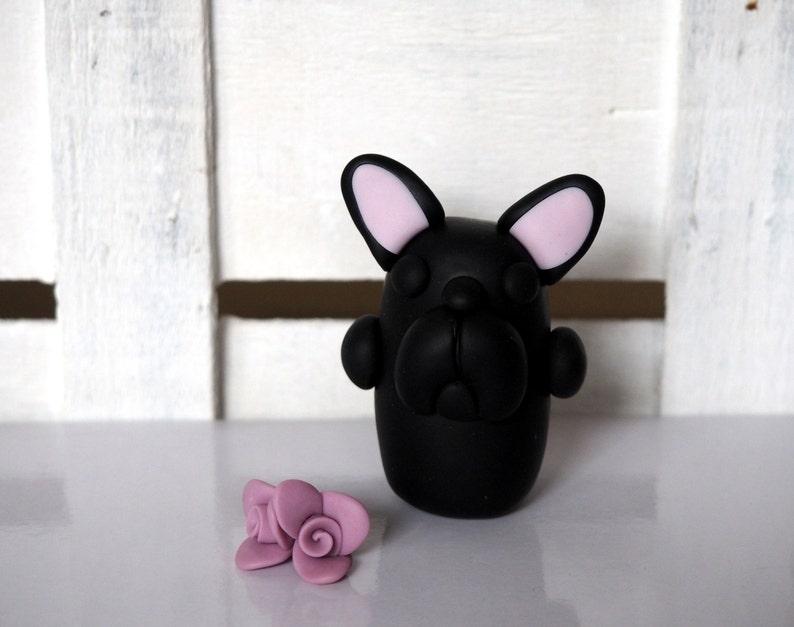 French Bulldog Black Frenchie Handmade Bulldogs Black dog image 0
