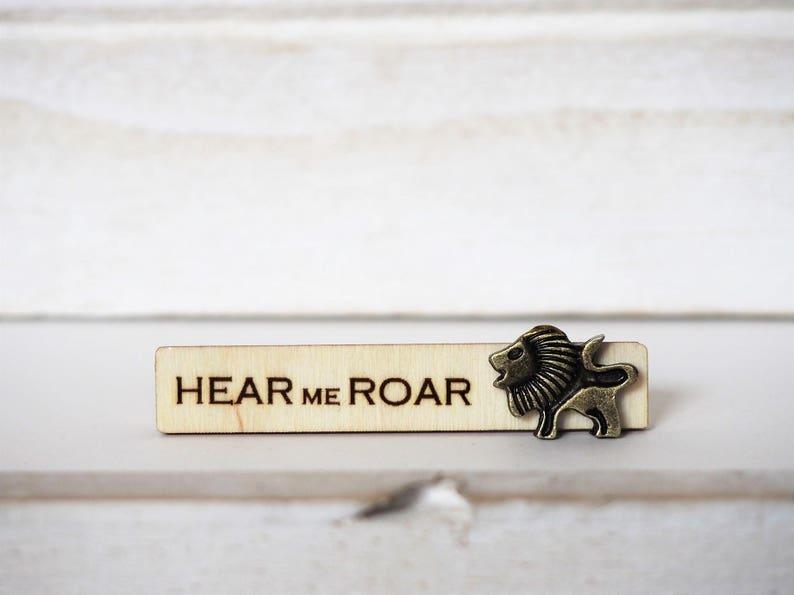 Lion Tie Clip Hear me Roar Lannister motto Laser Cut Lion Tie image 0