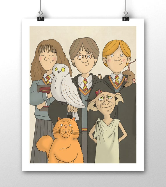 Harry Potter Group Harry Ron And Hermione