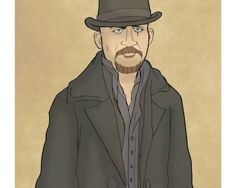 James Delaney - Taboo - Tom Hardy - Illustration Art Print