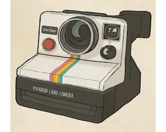 Polaroid Camera - Illustration Art Print