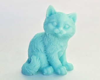 Cat Soap: Sittin Pretty - Prissy Kitty Cat Soap, You Choose Color & Scent