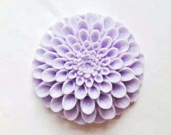 Dahlia Flower Soap 3D: Beautiful Round Flower Soap Bar with 3D Petals, Decorative Floral Guest Soap, You Choose Color & Scent