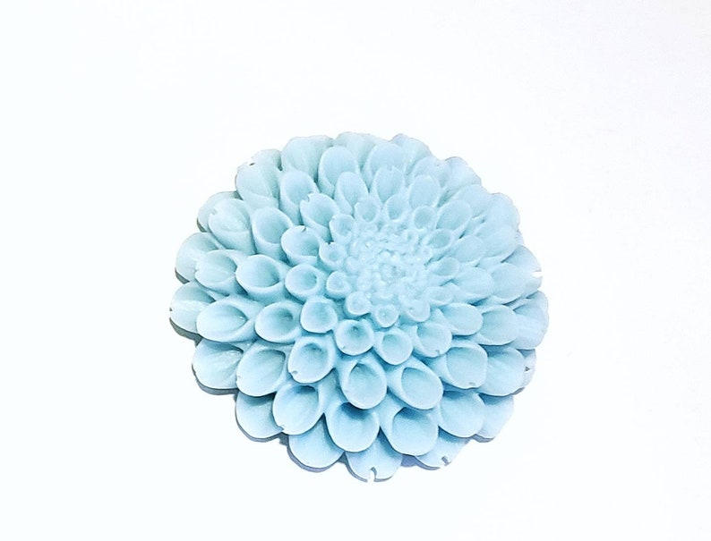 Dahlia Flower Soap 3D: Beautiful Round Flower Soap Bar with 3D image 0