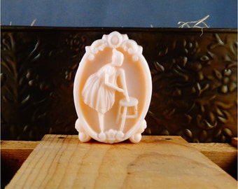 Ballerina Dancer Soap: Decorative Guest Bar Soap Features Ballet Girl Getting Ready to Dance, You Choose Color & Scent