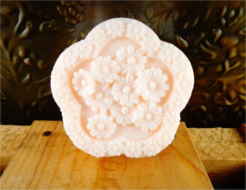 Flower Soap: A Beautiful Flower Collage Soap Bar Decorative image 0