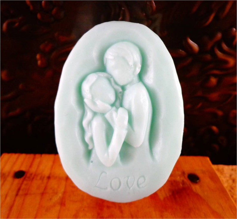 Soap: Two Lovers Soap Bar  Beautiful Couple in Love Perfect image 0