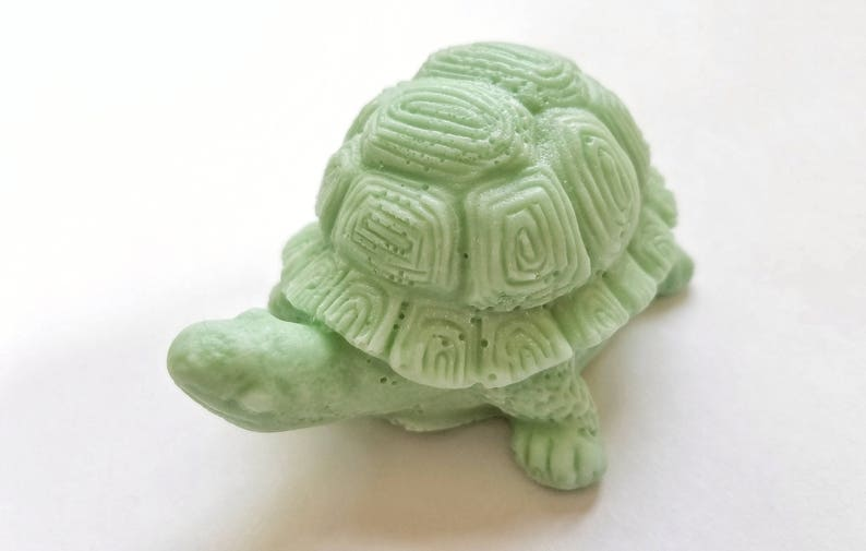 Tortoise Soap: 3D Tortoise soap with decorative shell sits in image 0