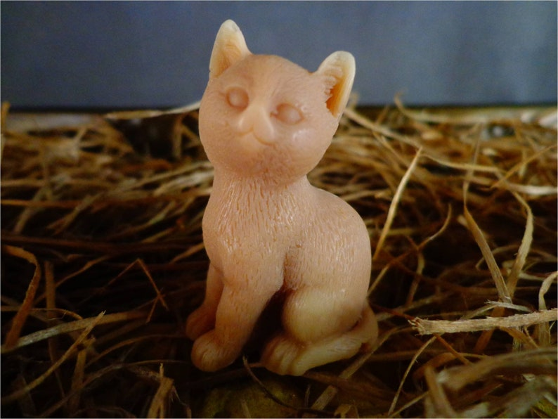 Tiny Kitty Cat Soap: cat lovers crazy cat lady gift affordable image 0