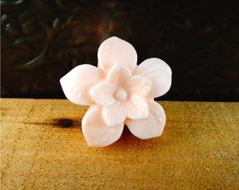 Little Flower Soap: Small Decorative Flower Guest Soap Bar, You Choose Color & Scent