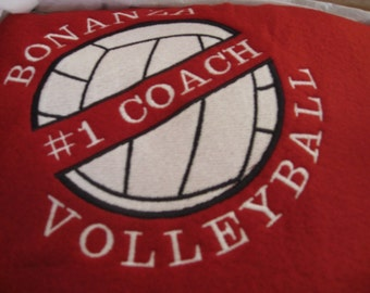 Volleyball Blanket Personalized Embroidered
