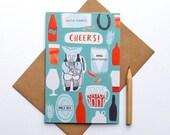 SALE Illustrated Cheers Pub Card