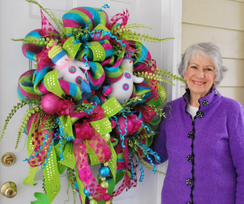 How To Make A Mesh Wreath Mesh Wreath Instruction Deco Mesh Etsy