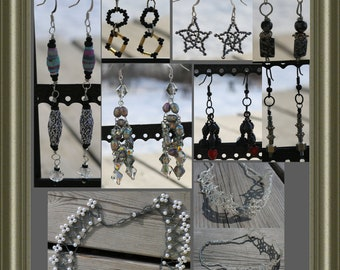 SALE Goth Jewelry, RTS Ready To Ship earrings necklaces