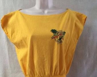 Vintage Hola Amigo International Los Cabos Beach Cover Tunic Top Blouse