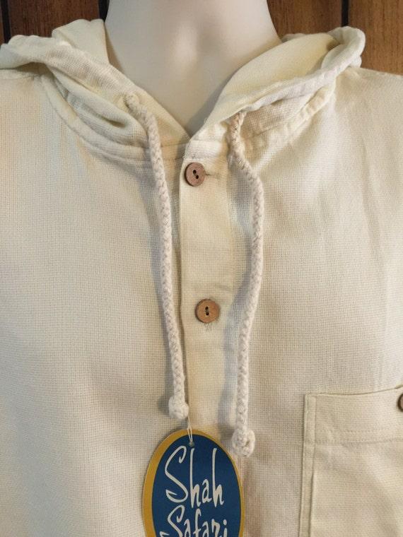 Shah Safari Men/'s Hooded Long Sleeved Shirt Cotton Hoodie