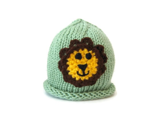 9cf39b99f67 lion hat Animal Baby Hat knit baby hat knitted baby hat