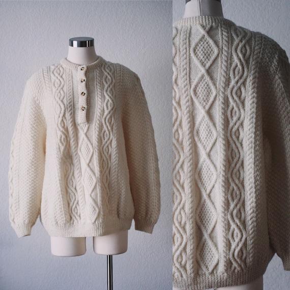 Cream knit fisherman sweater