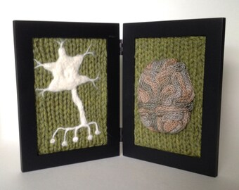 Neurological Study in Wool - Green Background