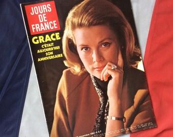 Rare French magazine Jours de France 1982 edition of Grace Kelly/ Princess Grace of Monaco
