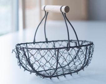 SALE • Imperfect Bronze Flower Girl Basket    Wire Flower Girl Basket   Petite Metal Basket   Wire Pail   Small Metal Basket