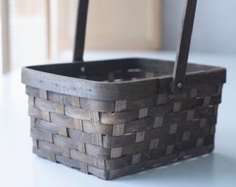 Woven Wood Gift Basket | Storage and Organization Basket | Sale Basket | Wedding Decor | Gift Basket | Home Decor | Large Bin | Clearance