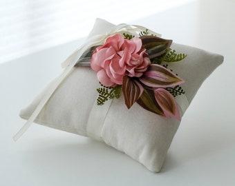 SALE •Ring Bearer Pillow   Ivory Wedding Ring Pillow   Ring Bearer Small Ring Cushion